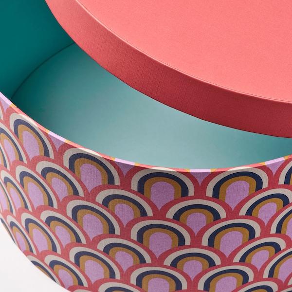 LANKMOJ Fedeles doboz,3db, többszínű/papír