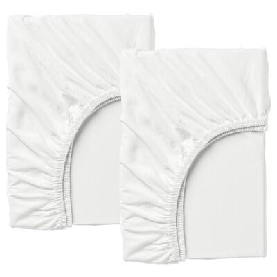 LEN gumis lepedő meghossz. ágyhoz, 2 db fehér