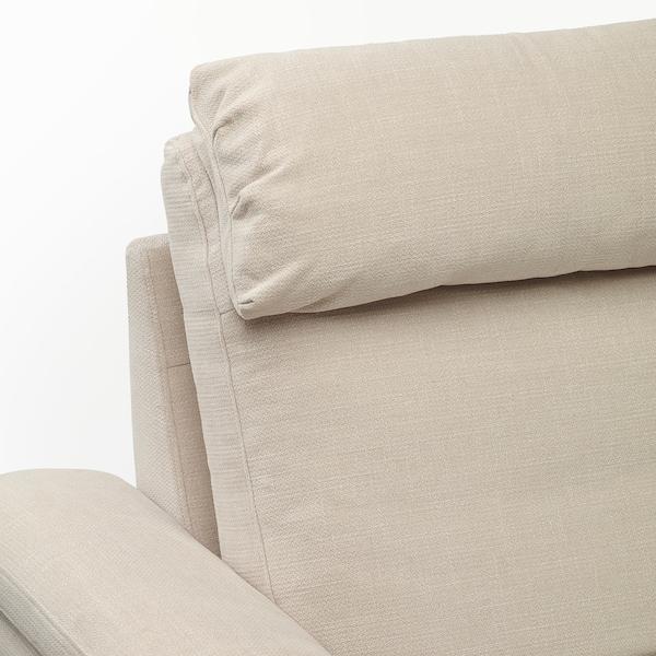 LIDHULT 3 személyes kinyitható kanapé, fekvőfotellel/Gassebol világosbézs