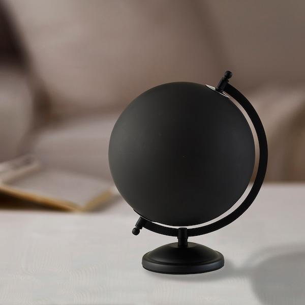 LINDRANDE dekoráció földgömb fekete 22 cm 20 cm 28 cm