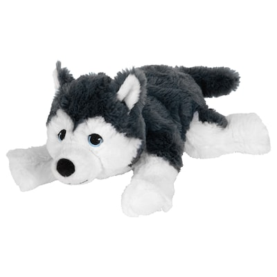 LIVLIG Puha játékfigura, kutya/szibériai husky, 26 cm