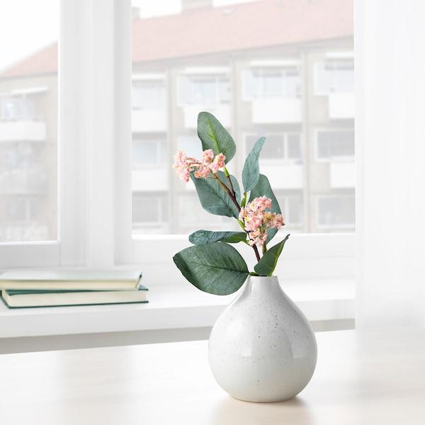 LIVSVERK váza fehér 12 cm