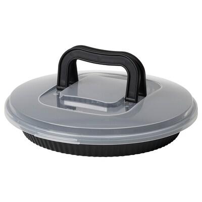 LOCKBETE Piteforma tetővel, fekete, 31 cm