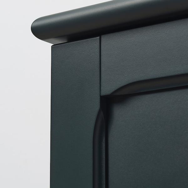 LOMMARP szekrény üvegajtókkal sötétkék-zöld 86 cm 49 cm 199 cm 28 kg