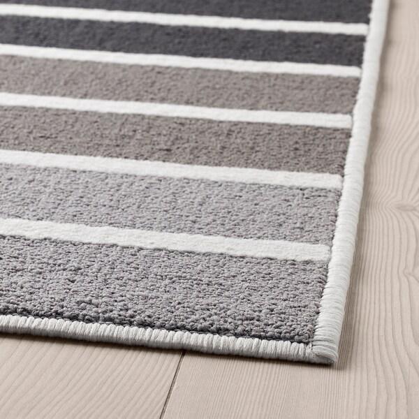 LUMSÅS szőnyeg, rövid szálú szürke/többszínű 180 cm 120 cm 8 mm 2.16 m² 980 g/m² 360 g/m²