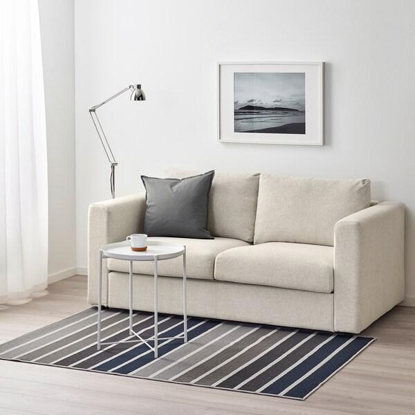 LUMSÅS Szőnyeg, rövid szálú, szürke/többszínű, 120x180 cm
