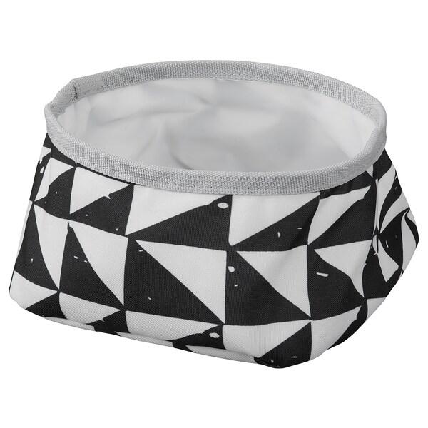 LURVIG Tál, fehér/fekete, 16 cm