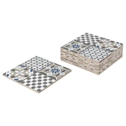 MÄLLSTEN felsőrész, kültéri padlóburkolat kék/feh 0.81 m² 30 cm 30 cm 12 mm 0.09 m² 9 darabos