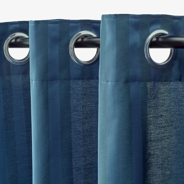 MAJRID Sötétítőfüggöny, 1 pár, kék, 145x300 cm