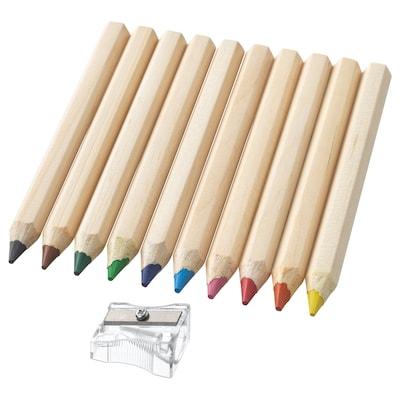 MÅLA színes ceruzák 12 cm 1 cm 10 darabos