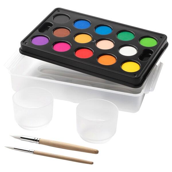 MÅLA Vízfesték készlet, vegyes színek