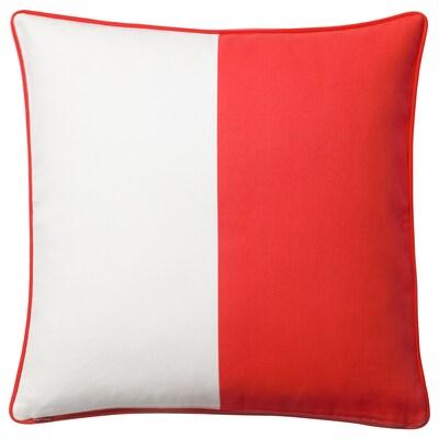 MALINMARIA díszpárnahuzat piros/fehér 50 cm 50 cm