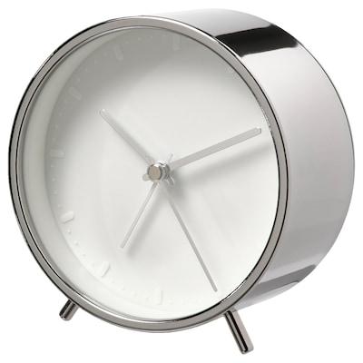 MALLHOPPA Ébresztőóra, ezüstszínű, 11 cm