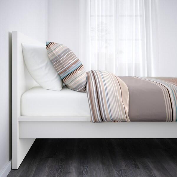 MALM Ágykeret, magas, fehér/Lönset, 90x200 cm