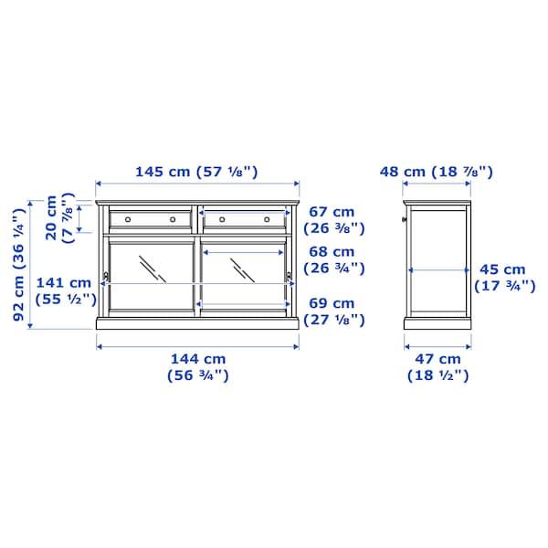 MALSJÖ Tálalószekrény, feketére pácolt, 145x92 cm