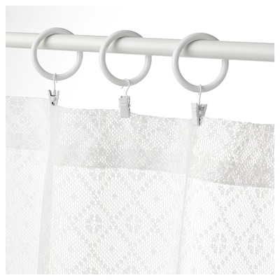 MARIELENA Függöny, fehér, 150x50 cm