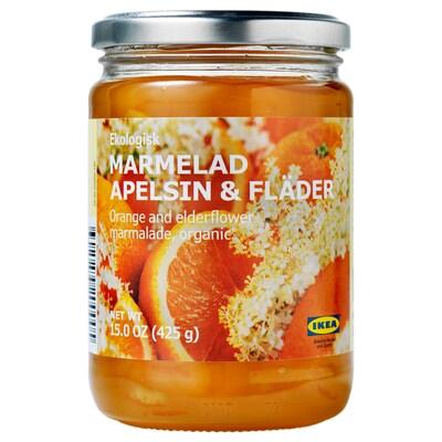 MARMELAD APELSIN & FLÄDER narancs- és bodzalekvár bio 425 gr