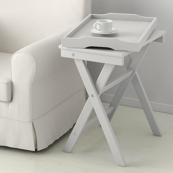 MARYD Tálca-asztal, szürke, 58x38x58 cm