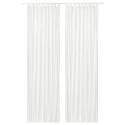 MATILDA áttetsző függöny 1 pár fehér 300 cm 140 cm 0.60 kg 4.20 m² 2 darabos