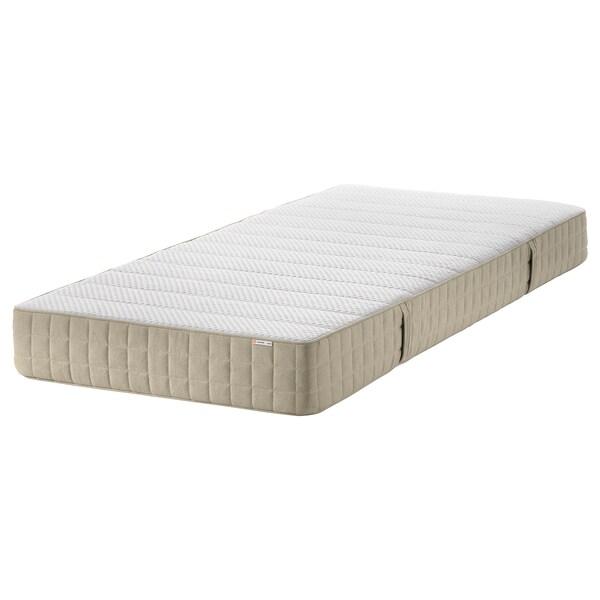 MAUSUND természetes latex matrac közepesen kemény natúr 200 cm 80 cm 20 cm