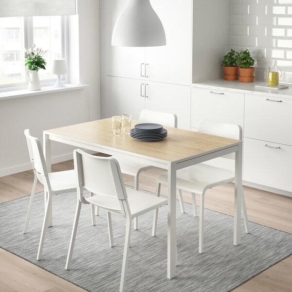 MELLTORP asztal kőris/fehér 125 cm 75 cm 74 cm