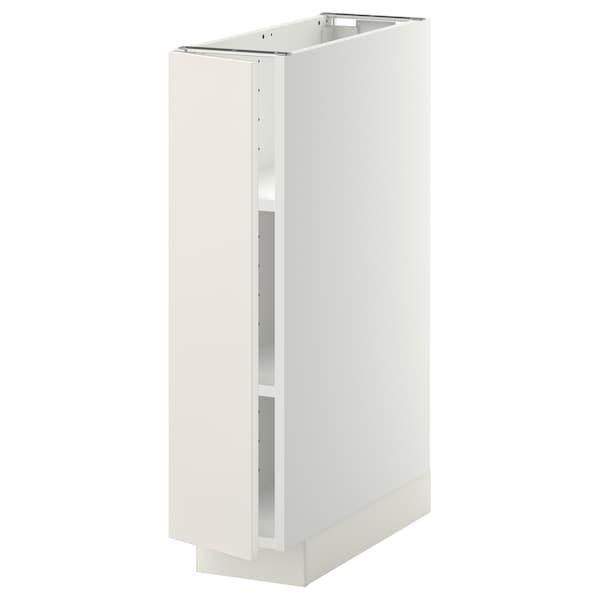 METOD Alsószekrény polcokkal, fehér/Veddinge fehér, 20x60 cm