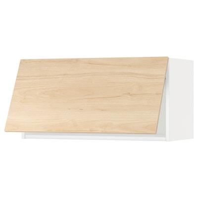 METOD Faliszekrény, érintésre nyíló, fehér/Askersund világoskőris hatású, 80x40 cm