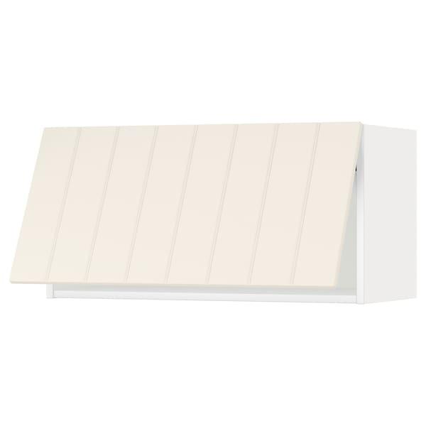 METOD Faliszekrény, érintésre nyíló, fehér/Hittarp törtfehér, 80x40 cm