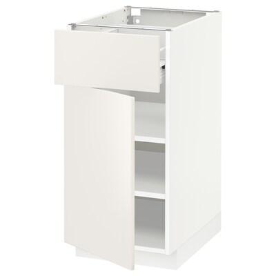 METOD / FÖRVARA alsószekrény+fiók/ajtó fehér/Veddinge fehér 40.0 cm 61.6 cm 88.0 cm 60.0 cm 80.0 cm