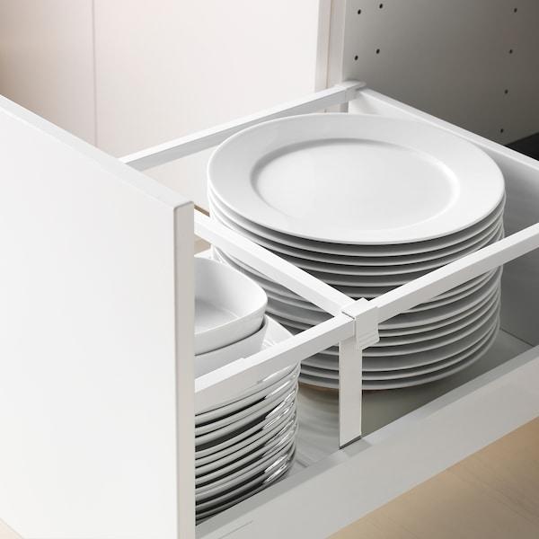METOD / MAXIMERA Alsószekr 3elap/2al/1k/1mfiók, fehér/Veddinge fehér, 40x60 cm