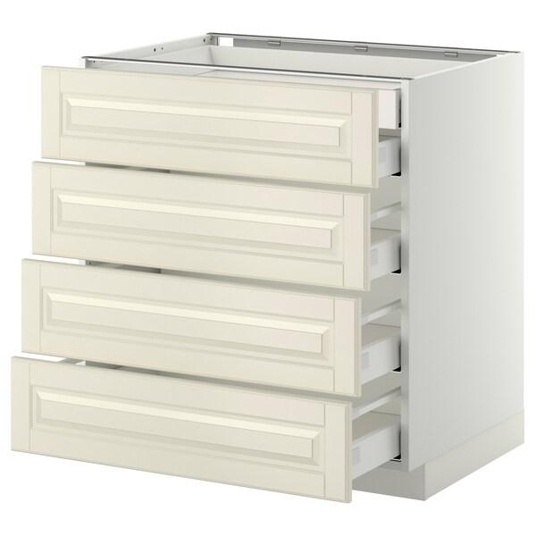METOD / MAXIMERA Alsószk 4elől/2alcs/3köz fiók, fehér/Bodbyn törtfehér, 80x60 cm