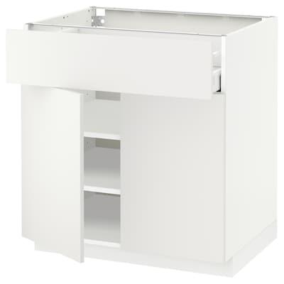 METOD / MAXIMERA alsószekrény fiókkal/2 ajtóval fehér/Häggeby fehér 80.0 cm 61.6 cm 88.0 cm 60.0 cm 80.0 cm