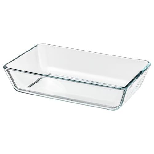 MIXTUR sütő-/szervírozótál átlátszó üveg 27 cm 18 cm