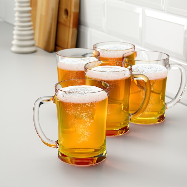 MJÖD söröskorsó átlátszó üveg 14 cm 60 cl