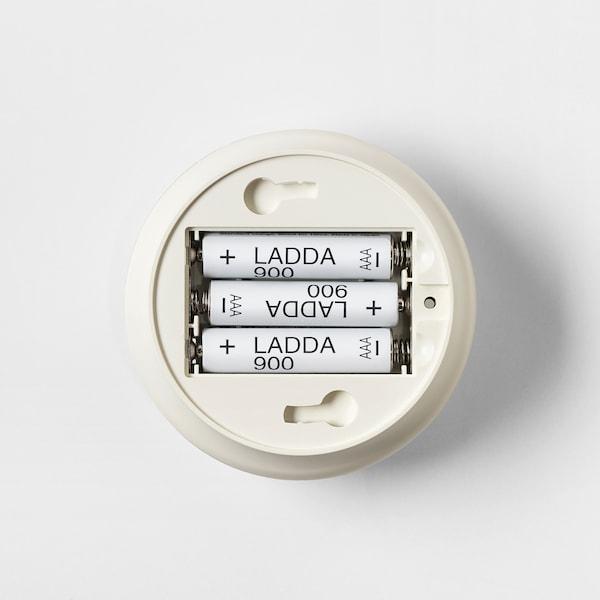 MOLGAN LED-világítás, fehér/elemes