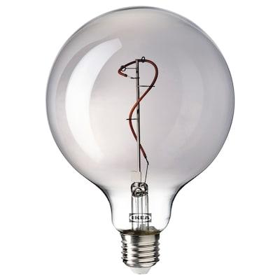 MOLNART LED izzó E27 140 lumen, gömb szürke átlátszó üveg, 125 mm