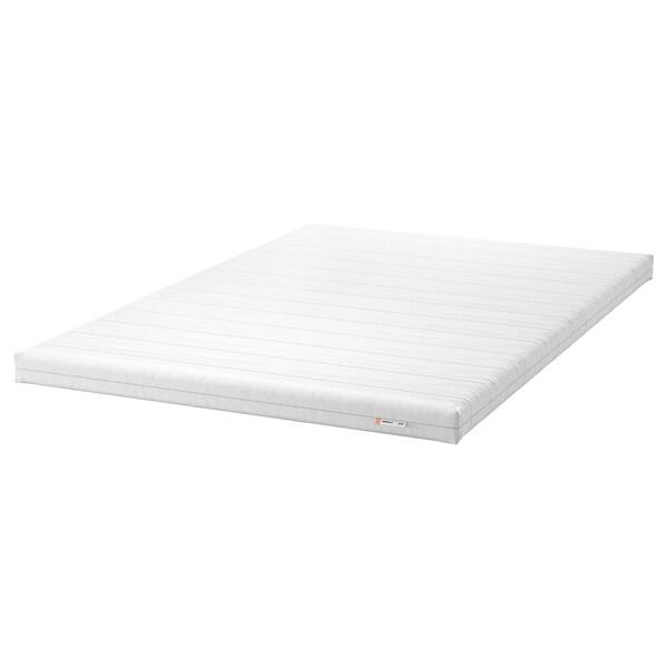 MOSHULT Habszivacs matrac, kemény/fehér, 140x200 cm
