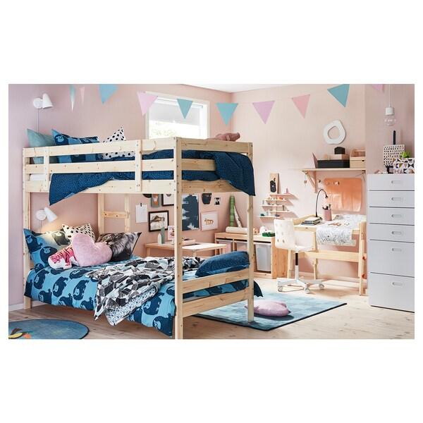MYDAL Emeletes ágy keret, fenyő, 90x200 cm