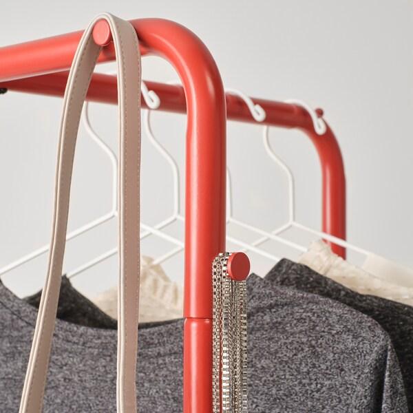 NIKKEBY ruhaállvány piros 80 cm 40 cm 170 cm