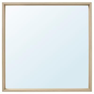 NISSEDAL Tükör, fehérre pácolt tölgy hatás, 65x65 cm