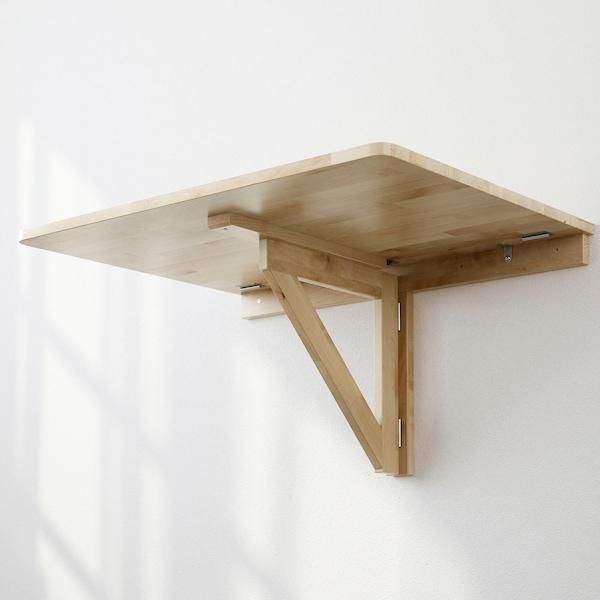 NORBO Fali lehajtható asztal, nyír, 79x59 cm