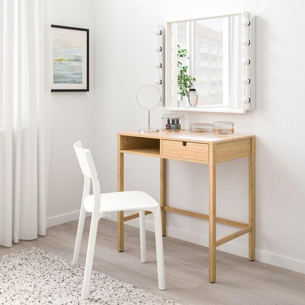 NORDKISA fésülködőasztal bambusz 76 cm 47 cm 79 cm
