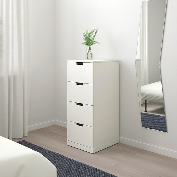 NORDLI 4-fiókos szekrény, fehér, 40x99 cm