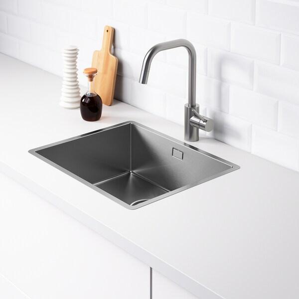 NORRSJÖN egymedencés beépíthető mosogató rozsdamentes 18 cm 50 cm 40 cm 42.8 cm 52.8 cm 44 cm 54 cm 44.0 cm 26.0 l