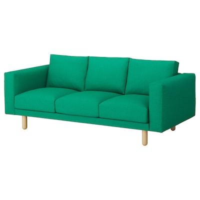 NORSBORG 3 személyes kanapé, Edum élénk zöld/nyír