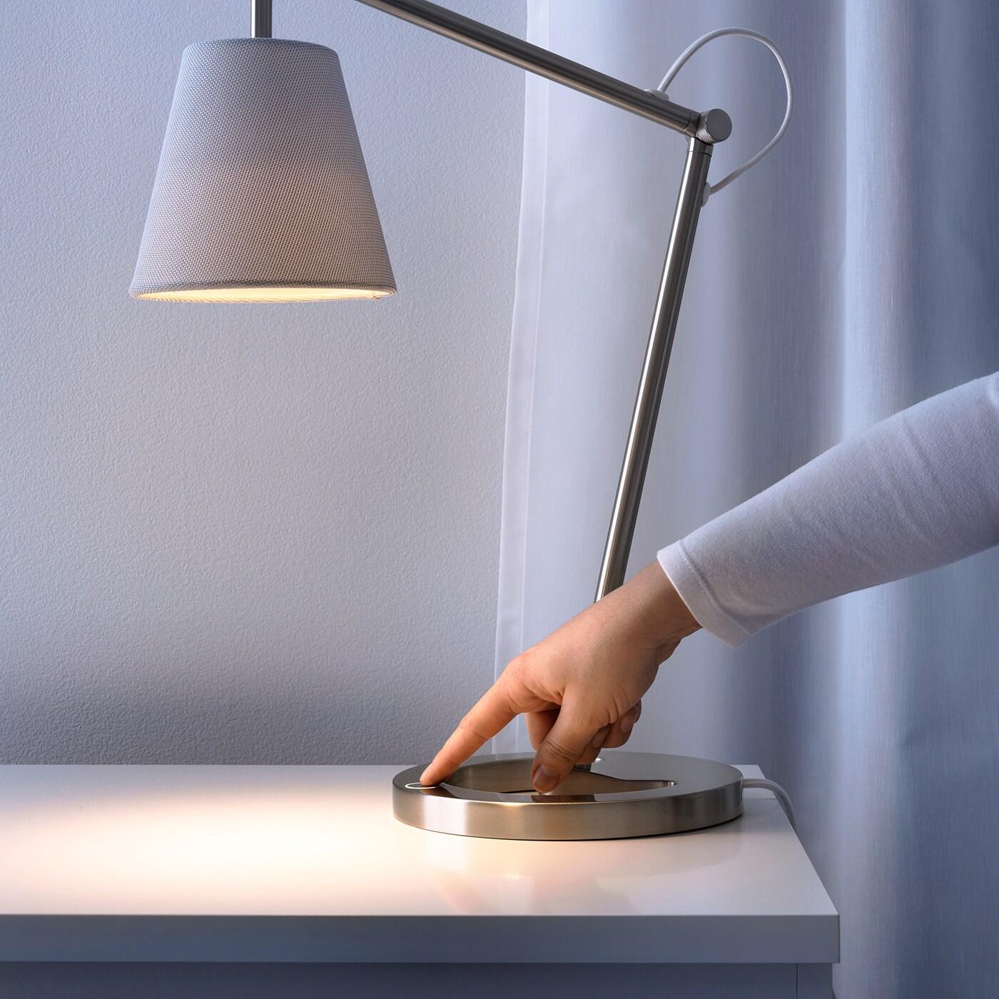 NYFORS Vásárold meg még ma,Asztali lámpa, nikkelezett fehér