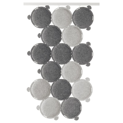 ODDLAUG hangszigetelő panel szürke 100 cm 50 cm 17 cm 1.5 cm 0.60 kg 15 darabos