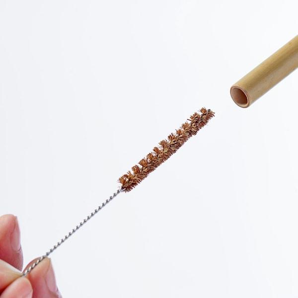 OKUVLIG Szívószálak/tisztítókefék, bambusz/pálma