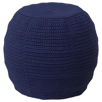 OTTERÖN puff huzat, bel/kültéri kék 41 cm 48 cm