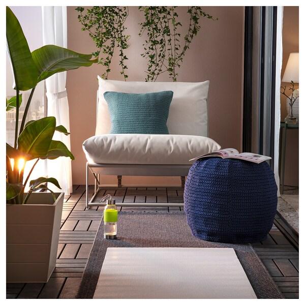 OTTERÖN Puff huzat, bel/kültéri, kék, 48 cm